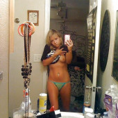 Kara Eberle topless-selife