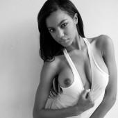 Ebonee Davis tang-top-nipple-slip