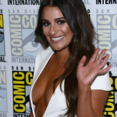 Lea Michele hot-cleavage