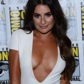 Lea Michele no-bra