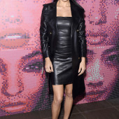 Adriana Lima leather