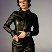 Alia Shawkat leather