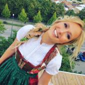 Angela Finger-Erben sexy dirndl