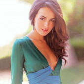 Camilla Belle braless