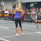 Caroline Wozniacki leggings