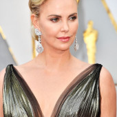 Charlize Theron braless
