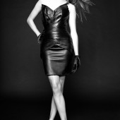 Danielle Panabaker leather