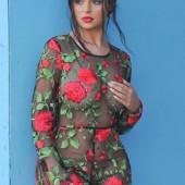 Demi Rose braless