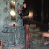 Dua Lipa stockings