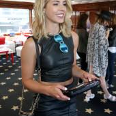 Emily Bett Rickards leather