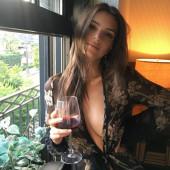 Emily Ratajkowski braless