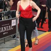 Emma Stone braless