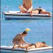 Geena Davis topless