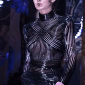 Gigi Hadid braless