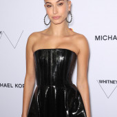 Hailey Bieber leather