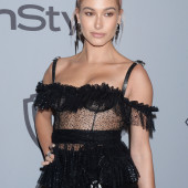 Hailey Bieber see through