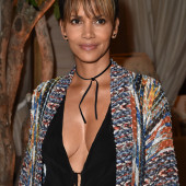 Halle Berry braless