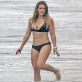 Hilary Duff beach