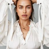 Irina Shayk braless