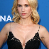 January Jones braless