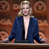 January Jones no bra