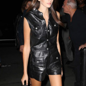 Kaia Gerber leather