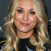 Kaley Cuoco closeup