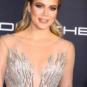 Khloe Kardashian braless
