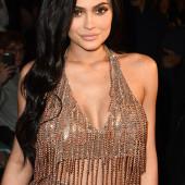 Kylie Jenner braless