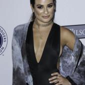 Lea Michele braless sideboob