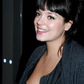 Lily Allen braless