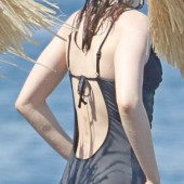 Lily Collins swimsuit