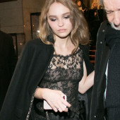 Lily-Rose Depp see through