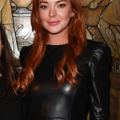Lindsay Lohan leather