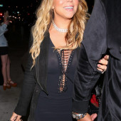 Mariah Carey braless