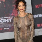 Megalyn Echikunwoke braless