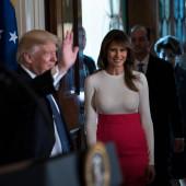 Melania Trump see through