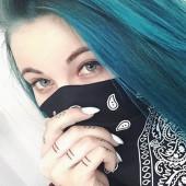 Melina Sophie blaue haare