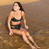 Melissa Barrera beach