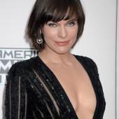 Milla Jovovich braless