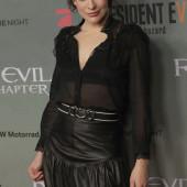 Milla Jovovich see through