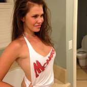 Nikki Cox braless