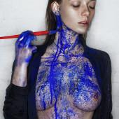 Olga Kobzar topless