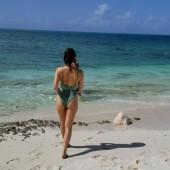 Olivia Munn beach
