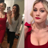 Olivia Taylor Dudley cleavage