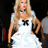 Paris Hilton braless