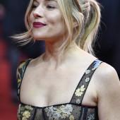 Sienna Miller braless