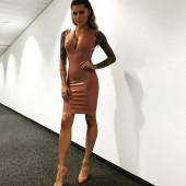 Sophia Thomalla latex outfit