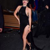 Lady Gaga braless