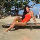 Zuleyka Rivera beach